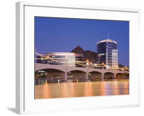 Town Lake and Mill Avenue Bridge, Tempe, Greater Phoenix Area, Arizona-Richard Cummins-Framed Art Print