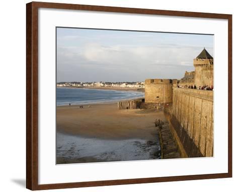 Saint-Malo City Wall, St. Malo, Ille-Et-Vilaine, Brittany, France, Europe-Godong-Framed Art Print