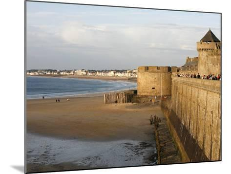 Saint-Malo City Wall, St. Malo, Ille-Et-Vilaine, Brittany, France, Europe-Godong-Mounted Photographic Print