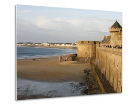 Saint-Malo City Wall, St. Malo, Ille-Et-Vilaine, Brittany, France, Europe-Godong-Metal Print