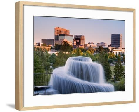 Finlay Park Fountain, Columbia, South Carolina, United States of America, North America-Richard Cummins-Framed Art Print