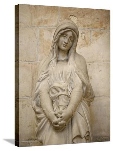 Mary Magdalene Statue in Vezelay Basilica, Vezelay, Yonne, Burgundy-Godong-Stretched Canvas Print