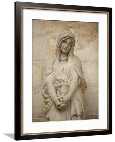 Mary Magdalene Statue in Vezelay Basilica, Vezelay, Yonne, Burgundy-Godong-Framed Art Print