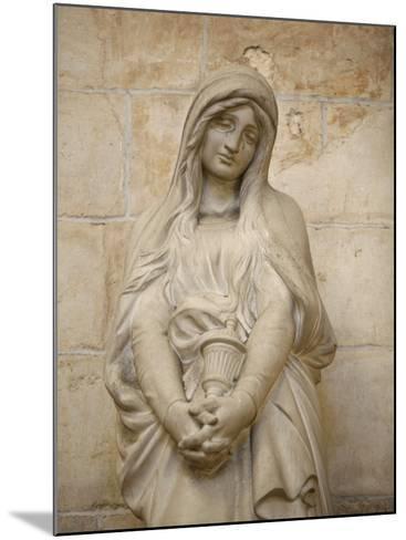 Mary Magdalene Statue in Vezelay Basilica, Vezelay, Yonne, Burgundy-Godong-Mounted Photographic Print