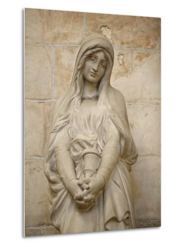 Mary Magdalene Statue in Vezelay Basilica, Vezelay, Yonne, Burgundy-Godong-Metal Print