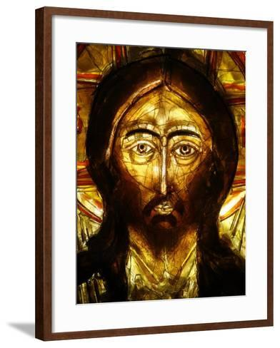 Christ Icon, Lourdes, Hautes Pyrenees, France, Europe-Godong-Framed Art Print