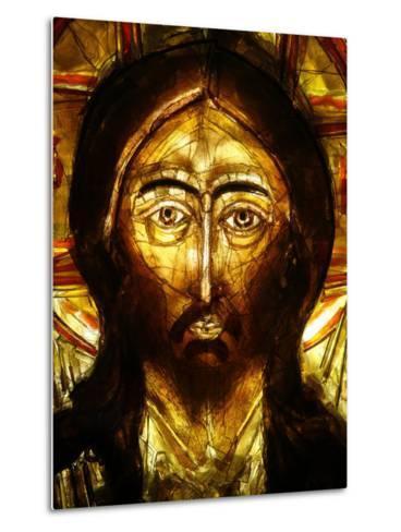 Christ Icon, Lourdes, Hautes Pyrenees, France, Europe-Godong-Metal Print