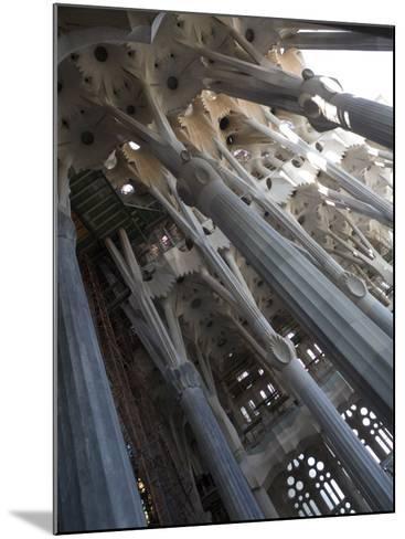 Interior with Columns and Windows, La Sagrada Familia Church, Barcelona, Catalonia, Spain, Europe-Nick Servian-Mounted Photographic Print