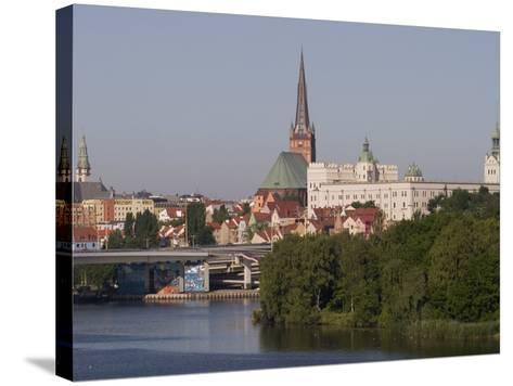 Castle, Cathedral and River Odra, Szczecin, West Pomerania, Poland, Europe-Rolf Richardson-Stretched Canvas Print