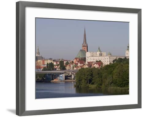 Castle, Cathedral and River Odra, Szczecin, West Pomerania, Poland, Europe-Rolf Richardson-Framed Art Print