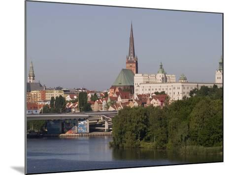 Castle, Cathedral and River Odra, Szczecin, West Pomerania, Poland, Europe-Rolf Richardson-Mounted Photographic Print