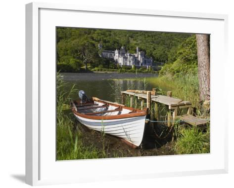 Kylemore Abbey and Lake, Connemara, County Galway, Connacht, Republic of Ireland, Europe-Richard Cummins-Framed Art Print