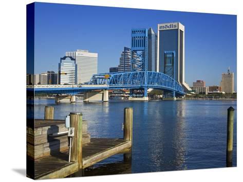 Main Street Bridge and Skyline, Jacksonville, Florida, United States of America, North America-Richard Cummins-Stretched Canvas Print