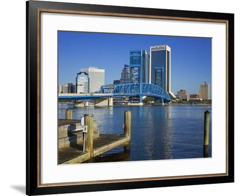 Main Street Bridge and Skyline, Jacksonville, Florida, United States of America, North America-Richard Cummins-Framed Art Print