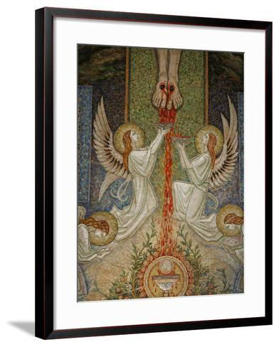 Detail of the Mosaic by Antoine Molkenboer Showing the Blood of Christ, Annecy, Haute Savoie-Godong-Framed Art Print