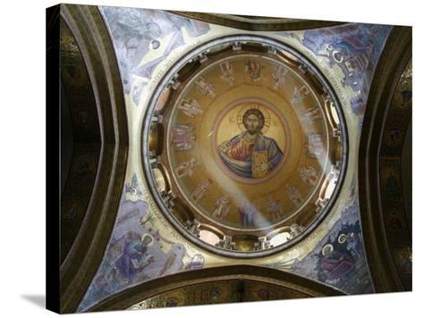 Dome of the Katholikon Greek Orthodox Church in the Church of the Holy Sepulchre, Jerusalem-Godong-Stretched Canvas Print