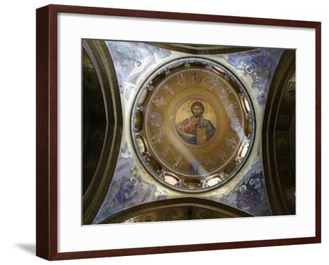 Dome of the Katholikon Greek Orthodox Church in the Church of the Holy Sepulchre, Jerusalem-Godong-Framed Art Print