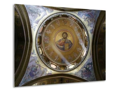 Dome of the Katholikon Greek Orthodox Church in the Church of the Holy Sepulchre, Jerusalem-Godong-Metal Print