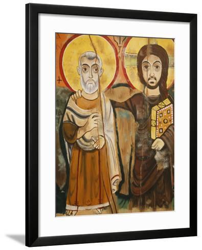 Taize Icon, Geneva, Switzerland, Europe-Godong-Framed Art Print