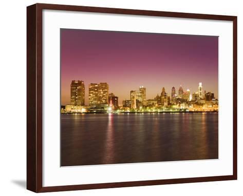 Philadelphia Skyline and Delaware River, Philadelphia, Pennsylvania-Richard Cummins-Framed Art Print