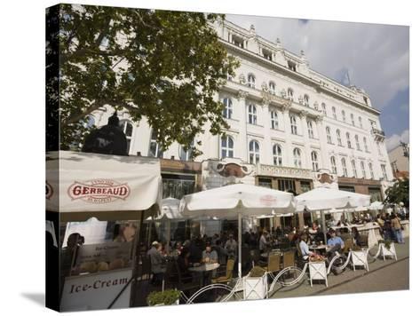 Cafe Gerbeaud, Budapest, Hungary, Europe-Jean Brooks-Stretched Canvas Print