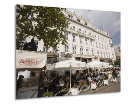 Cafe Gerbeaud, Budapest, Hungary, Europe-Jean Brooks-Metal Print