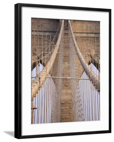 Brooklyn Bridge, New York City, New York, United States of America, North America-Amanda Hall-Framed Art Print