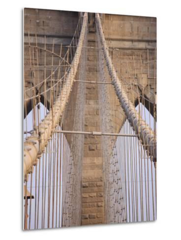 Brooklyn Bridge, New York City, New York, United States of America, North America-Amanda Hall-Metal Print