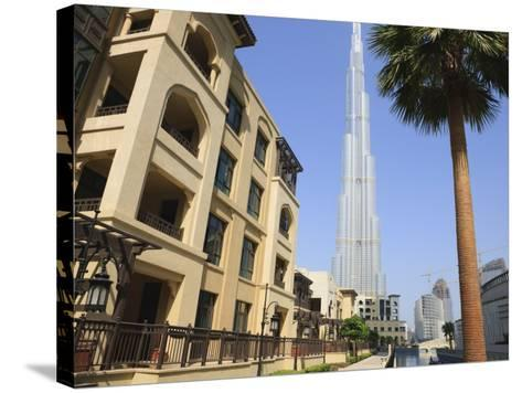 Burj Khalifa, Formerly the Burj Dubai, the Tallest Tower in the World at 818M-Amanda Hall-Stretched Canvas Print