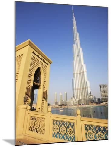 Burj Khalifa, Formerly the Burj Dubai, the Tallest Tower in the World at 818M-Amanda Hall-Mounted Photographic Print