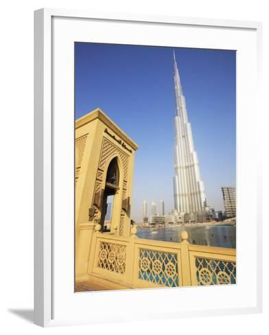 Burj Khalifa, Formerly the Burj Dubai, the Tallest Tower in the World at 818M-Amanda Hall-Framed Art Print