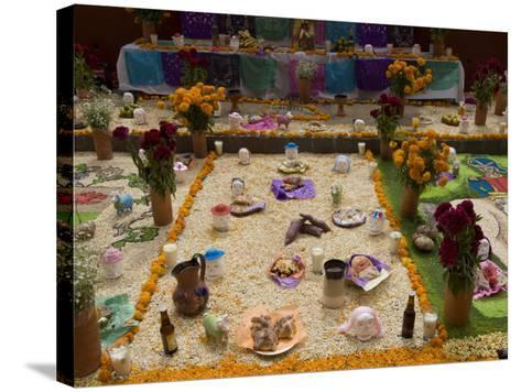 Decorations for the Day of the Dead Festival, Plaza Principal, San Miguel De Allende, Guanajuato-Richard Maschmeyer-Stretched Canvas Print