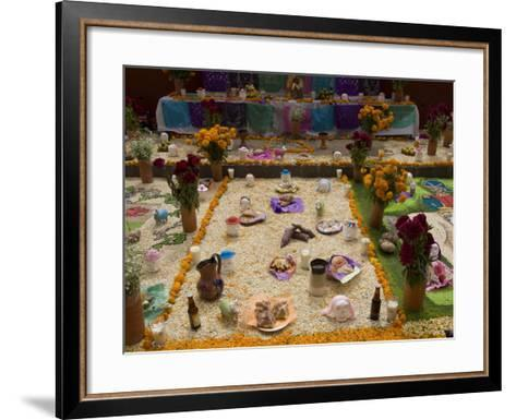 Decorations for the Day of the Dead Festival, Plaza Principal, San Miguel De Allende, Guanajuato-Richard Maschmeyer-Framed Art Print