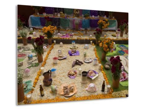 Decorations for the Day of the Dead Festival, Plaza Principal, San Miguel De Allende, Guanajuato-Richard Maschmeyer-Metal Print