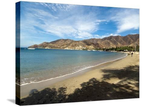 Beach at Taganga, Colombia, South America-Ethel Davies-Stretched Canvas Print