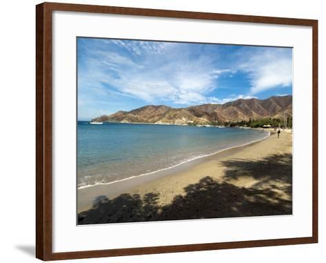 Beach at Taganga, Colombia, South America-Ethel Davies-Framed Art Print