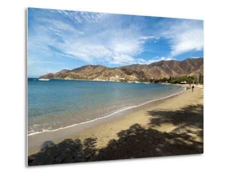 Beach at Taganga, Colombia, South America-Ethel Davies-Metal Print