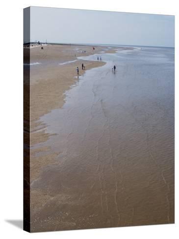 Beach Near Pier at Southport, Merseyside, England, United Kingdom, Europe-Ethel Davies-Stretched Canvas Print