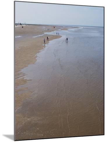 Beach Near Pier at Southport, Merseyside, England, United Kingdom, Europe-Ethel Davies-Mounted Photographic Print
