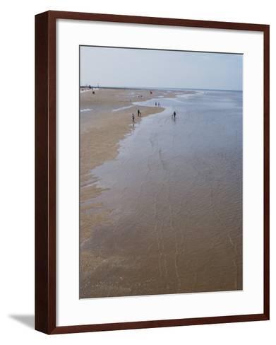 Beach Near Pier at Southport, Merseyside, England, United Kingdom, Europe-Ethel Davies-Framed Art Print