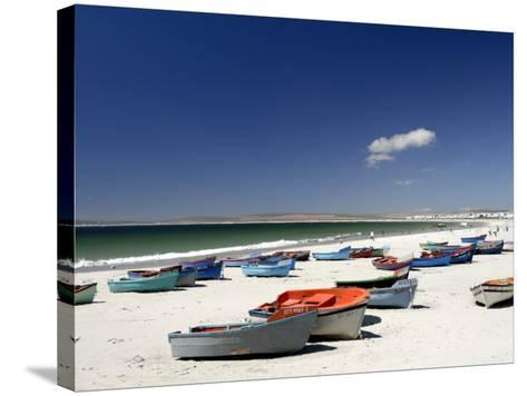 Beach and Fishing Boats, Paternoster, Western Cape, South Africa, Africa-Peter Groenendijk-Stretched Canvas Print