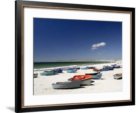 Beach and Fishing Boats, Paternoster, Western Cape, South Africa, Africa-Peter Groenendijk-Framed Art Print