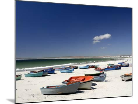 Beach and Fishing Boats, Paternoster, Western Cape, South Africa, Africa-Peter Groenendijk-Mounted Photographic Print