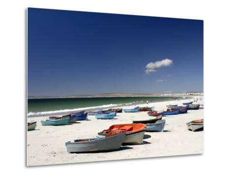 Beach and Fishing Boats, Paternoster, Western Cape, South Africa, Africa-Peter Groenendijk-Metal Print