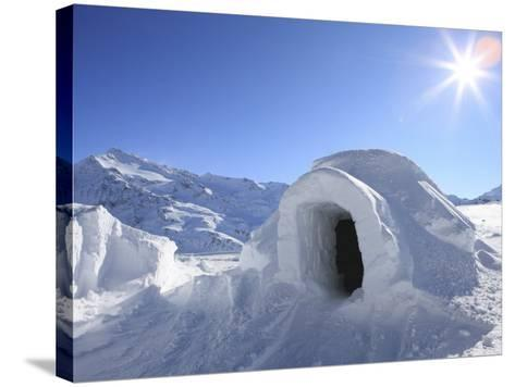 Igloo, Alps, Italy, Europe-Vincenzo Lombardo-Stretched Canvas Print
