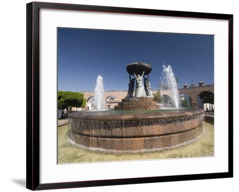 Fuente Las Tarasca, a Famous Fountain, Morelia, Michoacan, Mexico, North America-Richard Maschmeyer-Framed Art Print