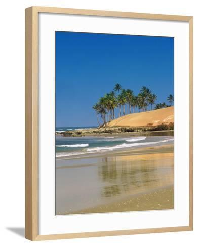 Beach in Fortaleza, Ceara, Brazil, South America-Sakis Papadopoulos-Framed Art Print