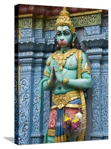 Exterior Statue of the Hindu Monkey God Hanuman, Sri Krishna Bagawan Temple, Singapore-Richard Maschmeyer-Stretched Canvas Print