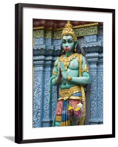 Exterior Statue of the Hindu Monkey God Hanuman, Sri Krishna Bagawan Temple, Singapore-Richard Maschmeyer-Framed Art Print