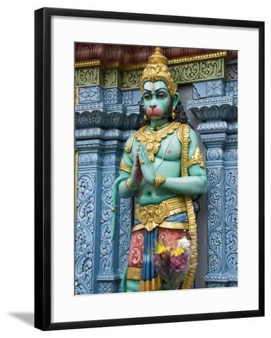 Exterior Statue of the Hindu Monkey God Hanuman, Sri Krishna Bagawan Temple, Singapore-Richard Maschmeyer-Framed Art Print